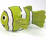 Guru-Shop Spardose Clownfisch, Lemongrün, Farbe: Lemongrün, 20x27x6 cm, Dekoration Fürs Kinderzimmer