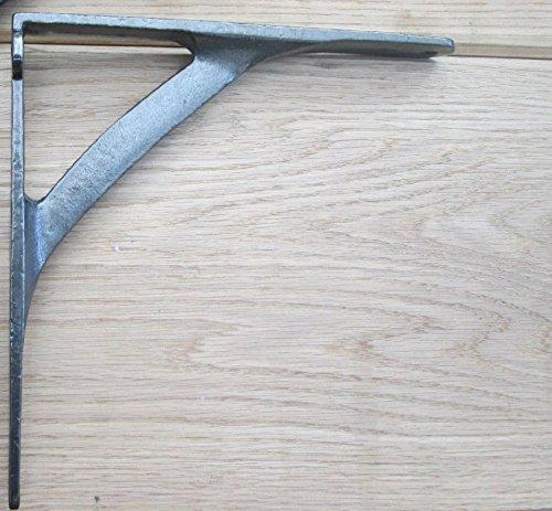 Ironmongery World® Gusseisen Uni gewölbte Old Style Regal Unterstützung Buch Spüle WC-Spülkasten Halterung (schwarz)