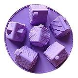Qinlee Silikon-Form Kreativ kleine Häuser Form Zuckerform Kuchenform Fondant/Schokolade/Zuckerverzierung DIY Formen Schokolade Backwerkzeuge