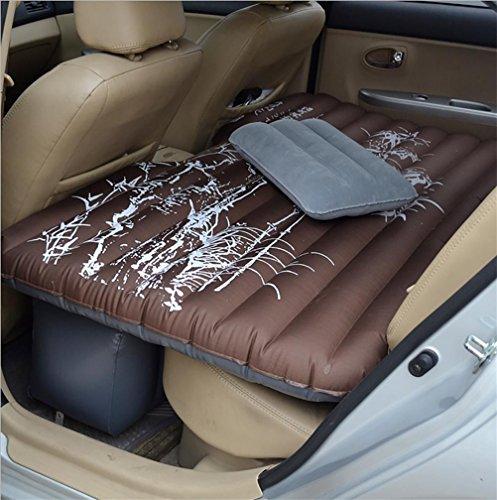 Ruirui Auto cuscino Mobile aria letto camera da letto inflazione viaggi più spesso materasso sedile posteriore esteso materasso , oxford cloth flower bamboo coffee color