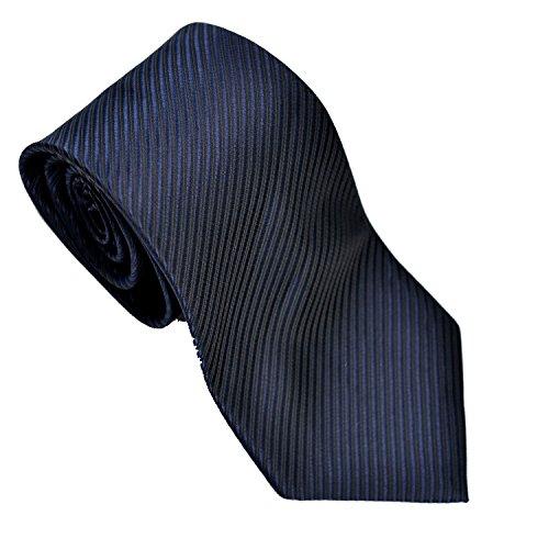 Tie Tie nozze in bianco e nero Paisley Business Tie puro blu scuro Men
