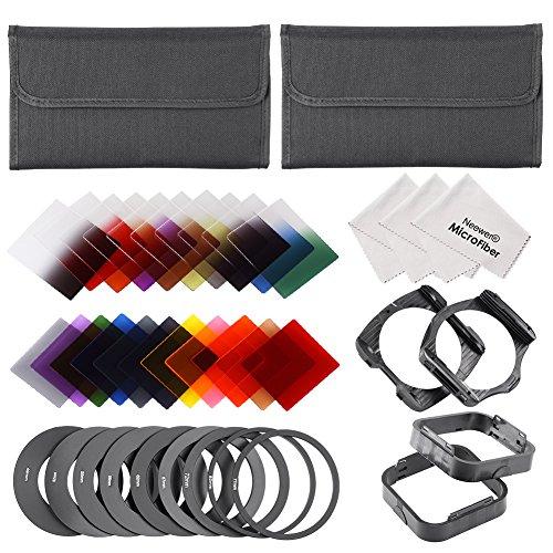 Neewer Kit di Filtri Quadrati & Accessori per Cokin P Serie 6 Filtri Pieni & Graduali 16 Filtri Colori Pieni & Graduali 9 Anelli Adattatori 2