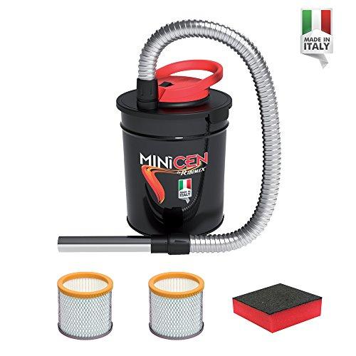 Aspirador de cenizas eléctrico Minicen - 800W de potencia–Capacidad 10Lt - Doble filtro y esponja