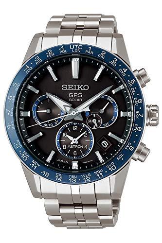 Seiko astron Herren Uhr analog Solar mit Titan Armband SSH001J1
