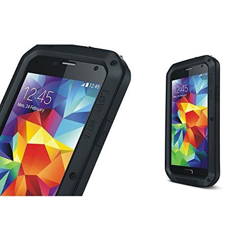 Verizon-handys Wasserdicht (Love Mei Aluminium Metall Schutzhülle für Samsung Galaxy S5I9600, wasserdicht stoßfest mit Gorilla Glas)