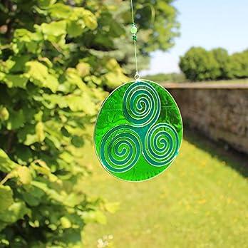 Fensterdeko Weg des Lebens grün | Fenster Deko zum Aufhängen | Sonnenfänger | Fensterschmuck Geschenkidee