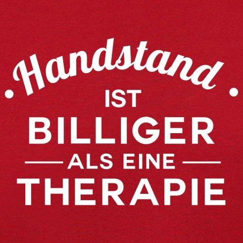 Handstand ist billiger als eine Therapie - Herren T-Shirt - 13 Farben Rot