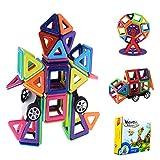 Blocchi Magnetici Giocattoli,Blocchi Magnetici Arcobaleno,Giochi Magnetici,3D Giocattoli Educativi Kit,Costruzioni Magnetiche Bambini,Grande Regalo per Bambini / Ragazzi (77 Pezzi)