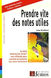 Prendre vite des notes utiles en MPS