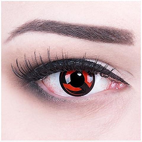 Meralens Eternal Kakashi Kontaktlinsen mit Pflegemittel ohne Stärke, 1er Pack (1 x 2 Stück)