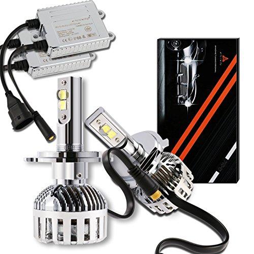 LED Autoscheinwerfer Umrüstkit, AFTERPARTZ® XH-6 LED Scheinwerfer Brenner - 72W 12000LM 6000K Xenon-Weiß CREE Neueste XHP-50 LED Chips - 2 Jahre Garantie, H4 9003 HB2