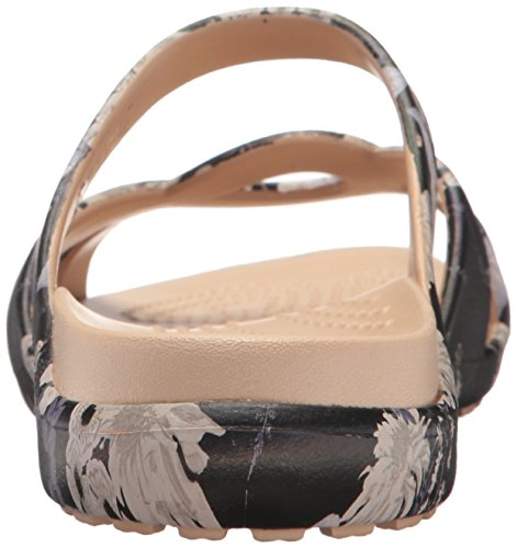Crocs - Frauen Meleen Twist Graphic flache Sandale Black/Floral