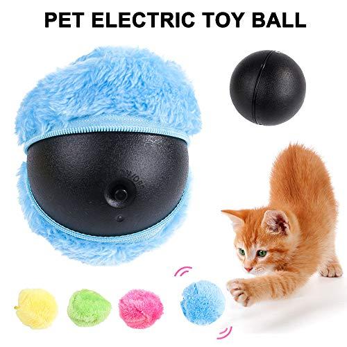 Klinkamz Magic Roller Ball Automatisches Spielzeug für Hunde und Katzen, Mikrofaser -