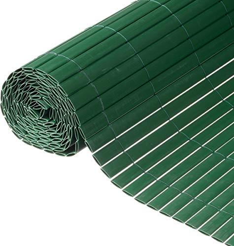 Canisse en PVC vert double face avec fixations H1xL3m