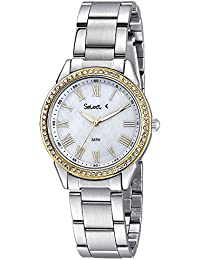 Ref. ET-03-46 Reloj Select Señora, caja y brazalete de acero, sumergible 50 metros, garantía 2 años.