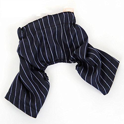 Schwarze Streifen Kleidung für Haustiere Welpen Herr Anzug Jacke (3 Styles optional) ( Farbe : B , größe : M ) (Pet-style-kleidung)