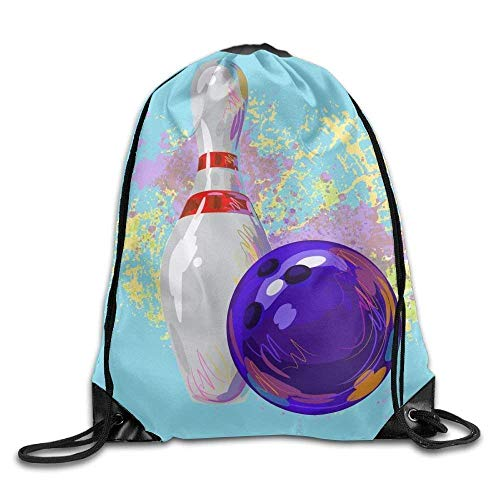 ZHIZIQIU 3D Print Drawstring Bags Bulk, Drawstring Sport Bag Bowling Sport Fashionable Travel Bag for Unisex Canvas Bag Drawstring Size: 4133cm -