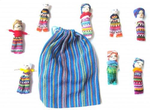 Worry dolls, 8 pieza en la bolsa