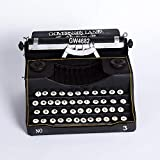 MAFYU Regali di festa Macchina da scrivere vintage vecchio stile modello nero home Decor Bar Cafe ornamenti 33 * 25 * 18cm