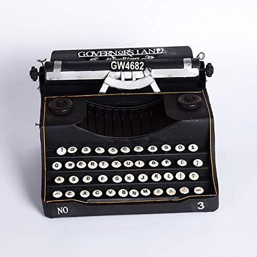 es Handwerk, Vintage altmodische Schreibmaschine Modell schwarz Inneneinrichtungen Bar Cafe Ornamente 33 * 25 * 18 cm ()