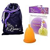 Me Luna Coupe menstruelle Classic, boule, Orange, Taille M