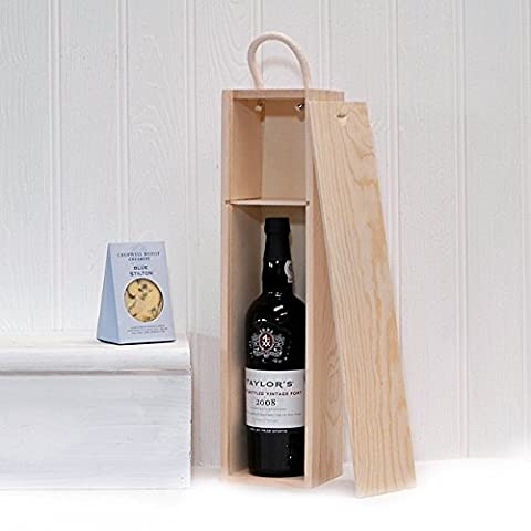 750ml Taylors Port & Stilton Cheese Wooden Gift Set Hamper - Gift ideas for Father's Day, Birthday, Anniversary and Congratulations