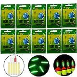 QualyQualy 10PCS 20PCS 50PCS Lotto Bulk Glow Stick per Pesca galleggianti Pesca Bobbers Luminous Stick Night Light Wand Tubi Verde Fluorescente Illuminazione Stick, 50 PCS 4.5 * 37mm