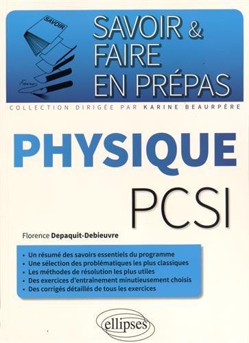 Savoir & Faire en Prépas Physique PCSI