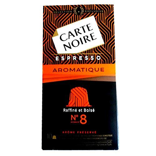 CAJA DE 10 CÃPSULAS DE CAFÉ CARTE NOIRE ESPRESSO AROMATIQUE Nº 8 - COMPATIBLE CON MAQUINAS NESPRESSO 171