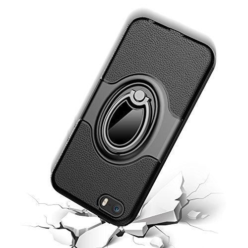 """iPhone SE Ring Stand Coque, SHANGRUN TPU Gel Silicone Métal Rotation Intégrée Bague de Serrage Support Case Coque avec Béquille Housse Étui pour iPhone 5/5s/SE 4.0"""" Or Blanc"""
