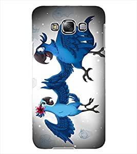 ColourCraft Love Parrots Design Back Case Cover for SAMSUNG GALAXY GRAND 3