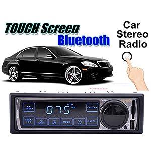 AUDEW Voiture Autoradio Bluetooth Stéréo Radio LCD Écran Tactile Lecteur Support Téléphone Entrée USB FM SD Récepteur Radio MP3