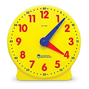 Learning Resources- Reloj para los Alumnos Big Time Student Learning Clock, Color (LER2095)