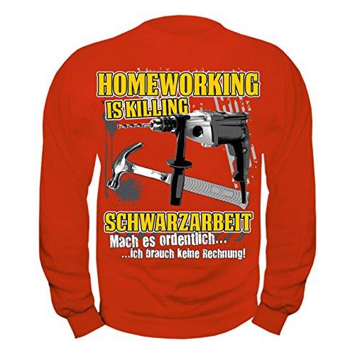 Männer und Herren Pullover Homeworking Schwarzarbeit Rot