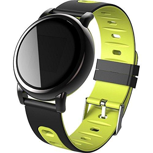 Track-telefon Android (Lemumu Neue B8 Smart Sport Armband Real-Time Herzfrequenz-übertragung GPS-Track Record Blutdruck IP67 Wasserdicht für Android IOS, Gelb)