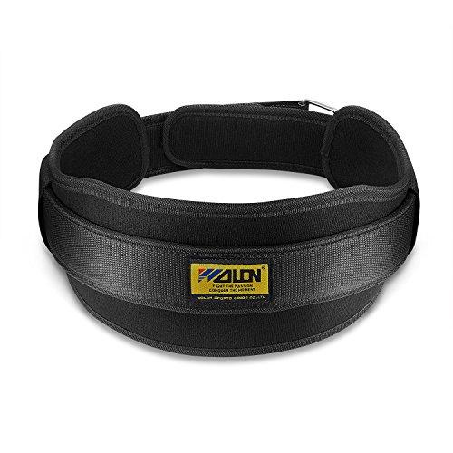 Cinturón de levantamiento de pesas, Velcro Powerlifting Cinturón (5 'de ancho) para hombres y mujeres Ejercicios de entrenamiento GYM Cross Fitness / Soporte trasero para levantamiento (Grande)