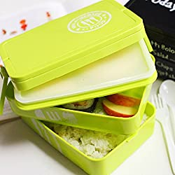 Generic Life83 Creative Bento box 2 Layers High Heat Resistance Lunch Food Container box Dinnerware Set For kids School Office