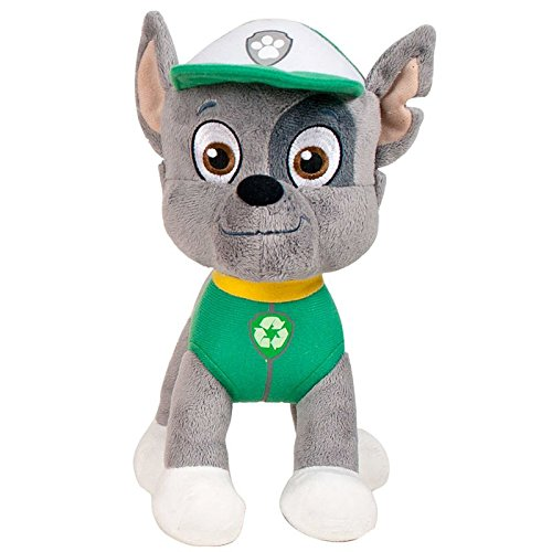 "PAW PATROL - ROCKY IS A MIX-BREED PUP, EXPERT IN RECYCLING PLUSH TOY (28CM - 11'02"") GOOD QUALITY - COLOUR GREEN -"