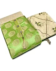 Skycrue Banarsi Jacquard Unstitched Salwar Suit Dress Material Free Size