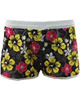 Womens / Girls Floral Print Swim Shorts - Beach Surf Board - 941