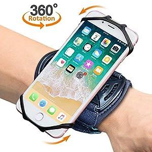 """Sport Armband, Bovon 360° Rotation Handgelenk Handytasche für iPhone XS Max/XR/XS/X, Galaxy Note 9/S9/S8 Plus & andere 4""""-6.5"""" Telefone, Handy Armband mit Schlüsselhalter für Joggen Radfahren"""