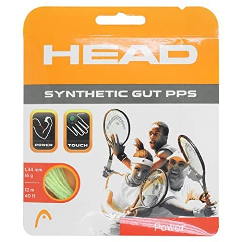 Head Synthetic Gut PPS Tennis String Set-17G Gold by HEAD