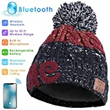 Cuffia Bluetooth, cuffia wireless per cuffie, cuffia pom pom con cuffia wireless, cuffia rimovibile, ricarica USB, regalo di Natale unico e incantevole per i tuoi amici