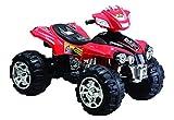 Mondial Toys Moto ELETTRICA 12V Super Quad per Bambini ATV con LUCI E Suoni Rosso
