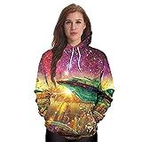 DioKlen - Hip-Hop Hoodies Sweatshirts Galaxy Space 3D Printing Kawaii Octopus Pattern Herbst Kapuze Frauen Hoodie BTS [B101 110 M]