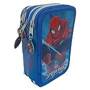 Grazioso borsello porta colori a 3 zip che raffigura il personaggio di Spiderman del mondo Marvel. Il borsello è composto da 3 scomparti ogniuno di essi chiuso con un cerniera, nel primo troverete 1 matita, 2 penne, 1 gomma, 1 temperamatite, ...