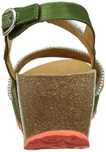 Desigual Bio7 Beads, Scarpe Col Tacco con Cinturino a T Donna Verde (green 4130)