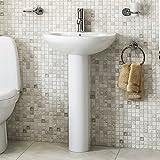 Bathroom Hand Wash Basin - Full Pedestal, 1 Tap Hole