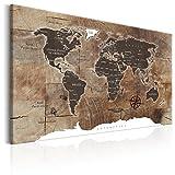 murando - Weltkarte Pinnwand 120x80 cm Bilder mit Kork Rückwand 1 Teilig Vlies Leinwandbild Korktafel Fertig Aufgespannt Wandbilder XXL Kunstdrucke Landkarte k-C-0050-p-d