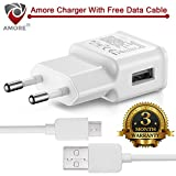#10: Amore Wall Charger Compatible with Samsung, Motorola, Sony, Oneplus, HTC, Lenovo, Nokia, Asus, Lg,Oppo,Vivo, Coolpad, Xiaomi, Micromax and All Mobiles.